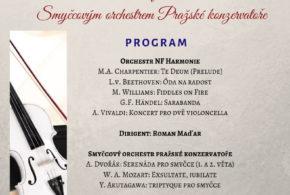 Koncert se Smyčcovým orchestrem Pražské konzervatoře