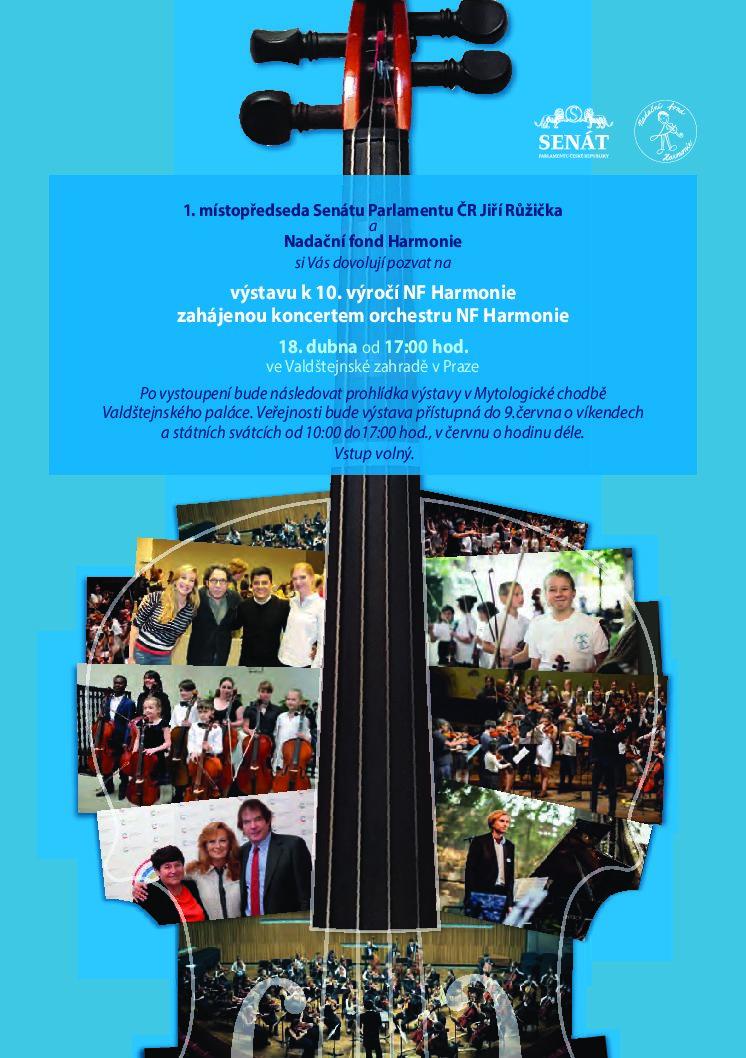 Výstava k 10. výročí od založení Nadačního fondu Harmonie
